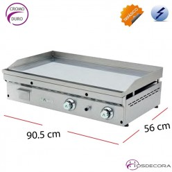 Plancha eléctrica 28-FCE-90 placa lisa 20mm Cromo Duro