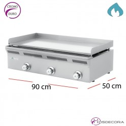 Fry Top a gas para hosteleria de Cromo 12 mm
