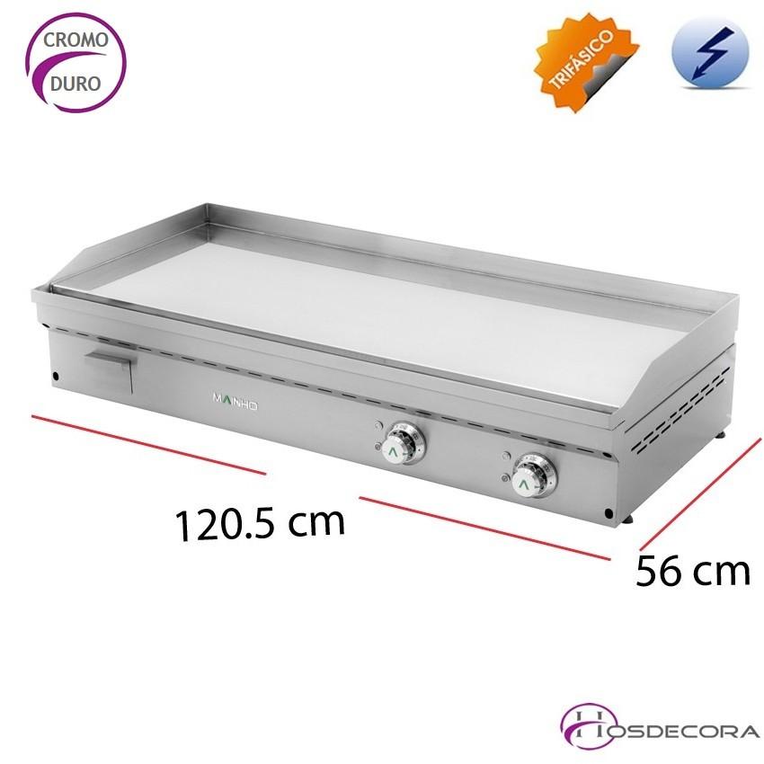 Fry-Top de CROMO 20mm eléctrica 28-FCE -120