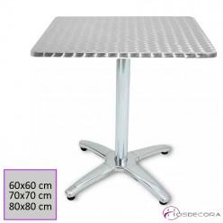 Mesa para terraza ARJONA Tablero Inox 60x60 cm.