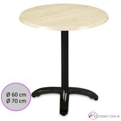 Mesa de cafetería redonda tablero SM