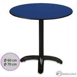 Mesa redonda tablero Compact para bar