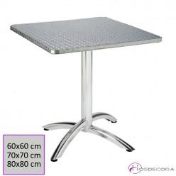 Mesa terraza aluminio cuadrada - POMER