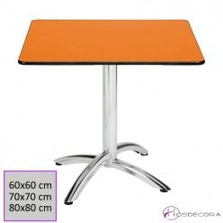 Mesa aluminio tablero cuadrado compacto-CASTILFRÍO