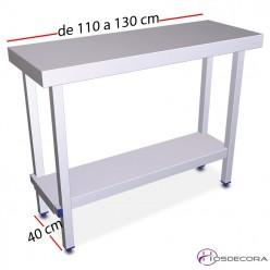Mesa plegable Fondo 40 - Largo 110 a 130 cm