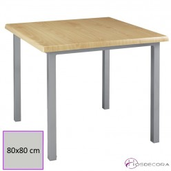 Mesa tablero cuadrado werzalit apilable