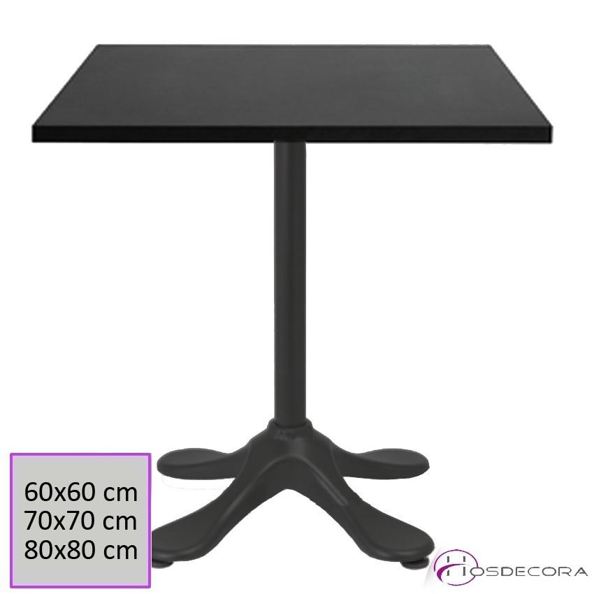 Mesa de bar Aliminio 60x60 cm Melamina - BENAMEJI