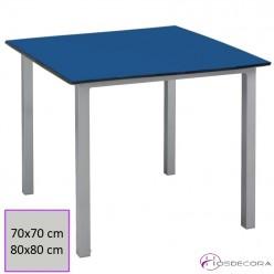 Mesa tablero compacto apilable terraza rectangular