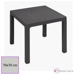 Mesa para terraza plástica de hostelería apilable