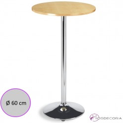 Mesa para taburetes tablero melamina redondo