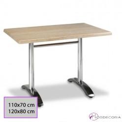 Mesa de Bar Aluminio Tablero 110x70 cm. SM- TIJOLA