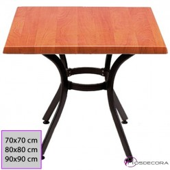 Mesa cafetería ELCHE cuadrada 70x70 Werzalit