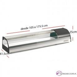 Vitrina tapas para Platos Largo 105 cm- BSS-1000