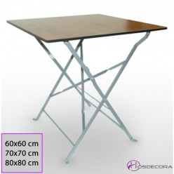 Mesa de Terraza forjada 60x60 Compac- YELES