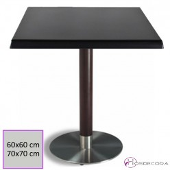 Mesa de bar Acero-madera 60x60 cm SM- LAZCAO
