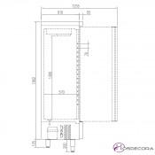 Nevera industrial inox 964L