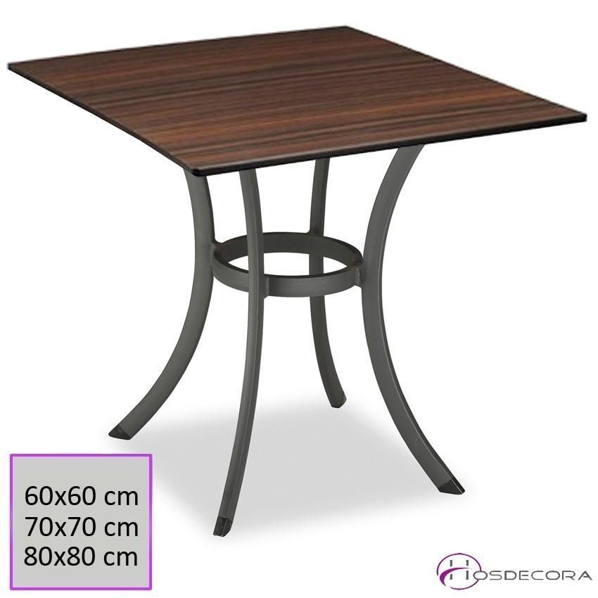Mesa de Bar Tablero Compacto 80x80 cm - CÁRTAMA