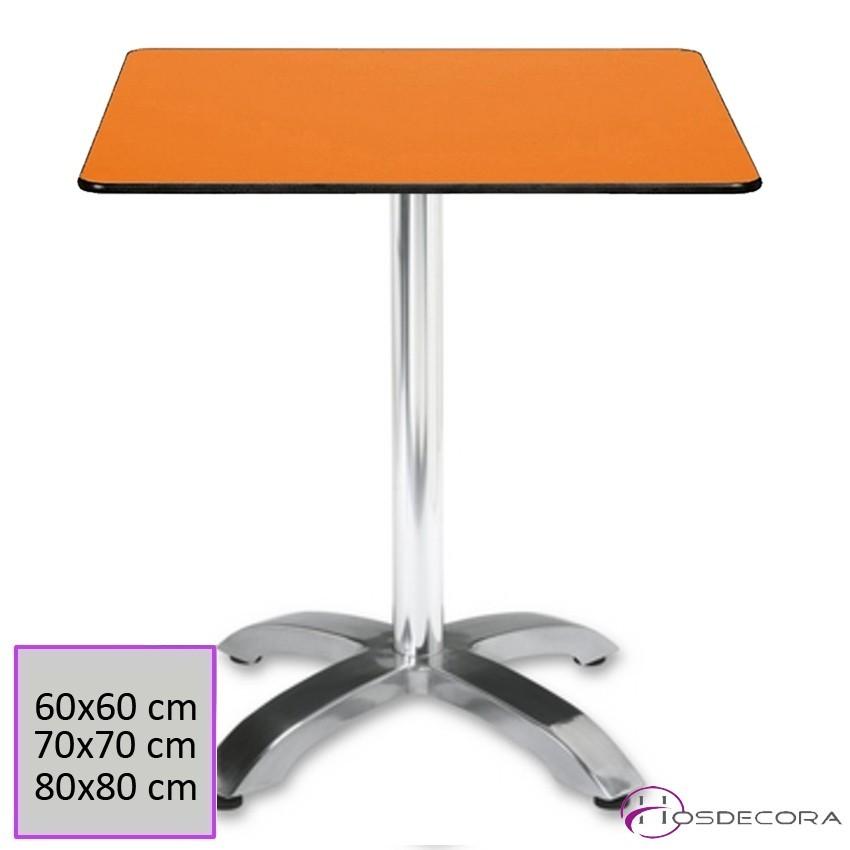 Mesa de bar Aluminio cuadrada Compact -SOCOVOS