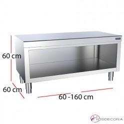 Mueble abierto con encimera central fondo 60cm