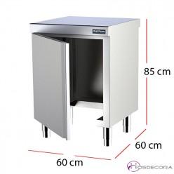 Modulo cocina central sin base para cubo fondo 60