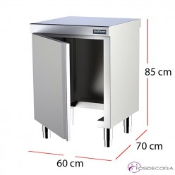Mueble central sin base para cubo fondo 70