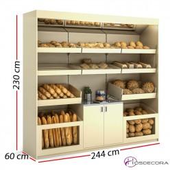 Mueble panadero 244x60x230