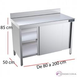 Mesas de fondo 50 cm en acero inoxidable para cocinas for Muebles de cocina de 70 cm de ancho