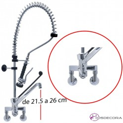 Grifo de ducha mural caño y manilla larga 34-548939+
