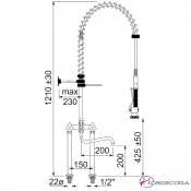 Grifo monobloc de ducha 2 orificios 34-548829