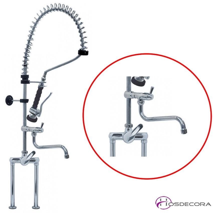 Grifo mezclador con ducha 2 orificios 34-548841