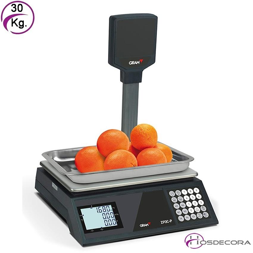 Balanza de sobremesa con doble visor XFOC-15 kg con conexión