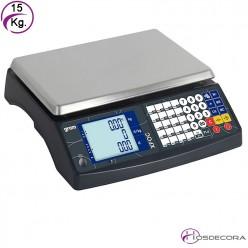 Balanza de sobremesa con doble visor XFOC-15KRS con conexión