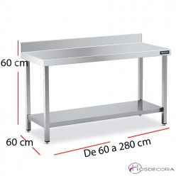 Mesa baja  inox Central  60 x 60 cm -Altura 60cm