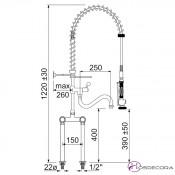 Grifo de ducha monobloc dos aguas 34-591071