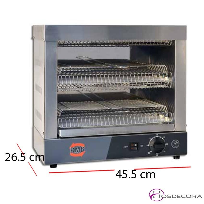 Tostador de Bar Tubos Cuarzo 45.5x26.5 cm -SIMPLE