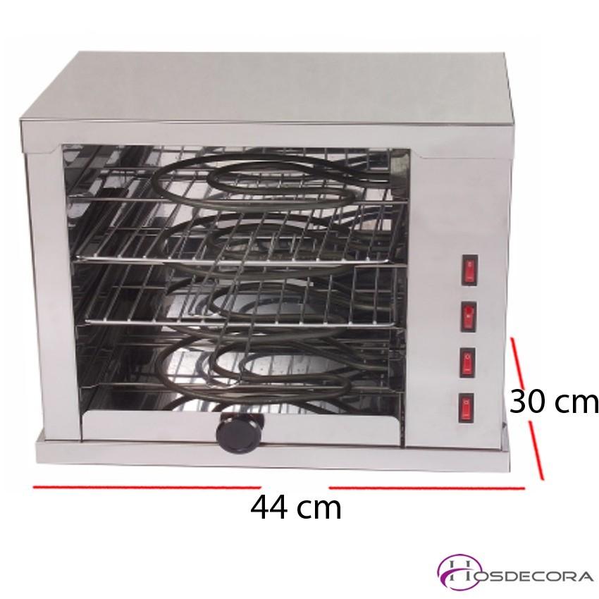 Horno  3 pisos- Temporizador- R. Blindadas 44x30 cm - 3.5kW