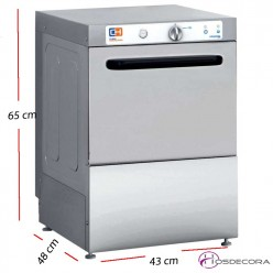 Lavavasos para bar 35x35- Altura útil 26 cm. 47-CH350