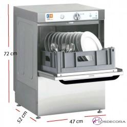 Lavavajillas para bar 40x40- Altura útil 32 cm. 47-CH400