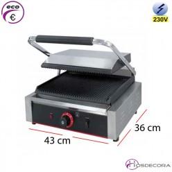 Grill eléctrico ranurado ECO 43x36 cm - 2.2kW