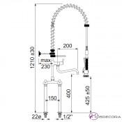 Grifo de ducha monobloc 2 columnas 34-548917