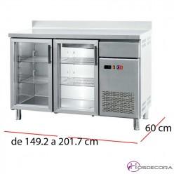 Frente mostrador frío 2 P.cristal Fondo 60 cm- FMCH-150V