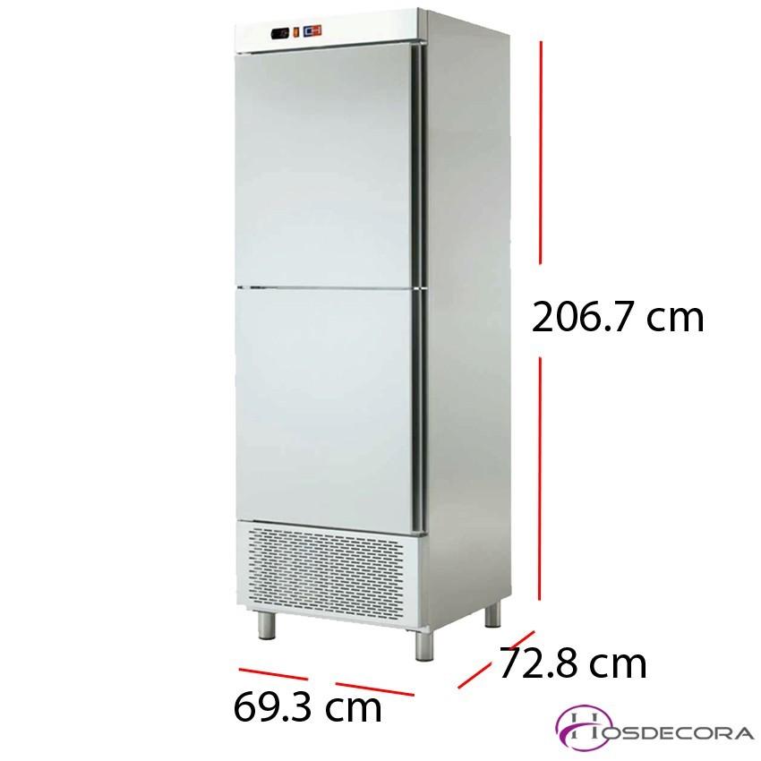 Nevera con frío 2 medias puertas Inox 484 W- ARCH-602