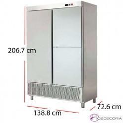 Armario refrigerado acero Inoxidable 704W 1200 litros