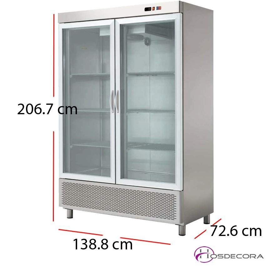 Armario refrigerado puertas cristal 704W 1200 litros