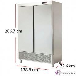 Armario congelador 2 puertas Inox 1320W 1200 litros