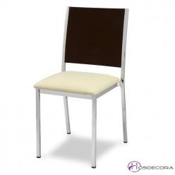 Silla para bar MR138 tapizada y asiento madera