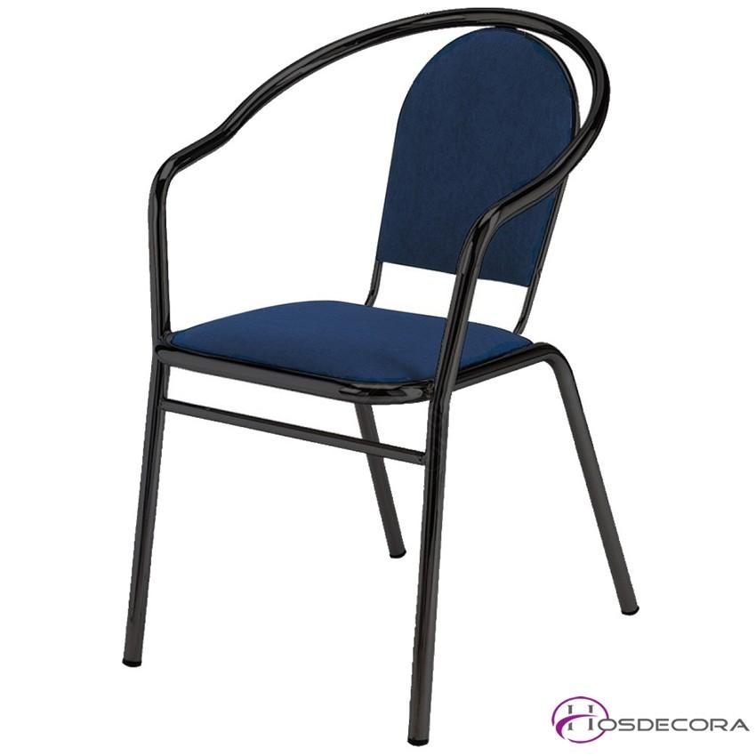 Sillón para bar Apilable MR222 asiento espuma negro
