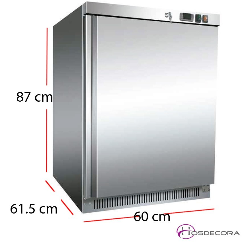 Nevera baja acero inox de 140 litros 145W