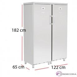 Armario doble refrigerador congelador 700 litros