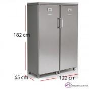 Armario refrigerador congelador 700 litros inoxidable